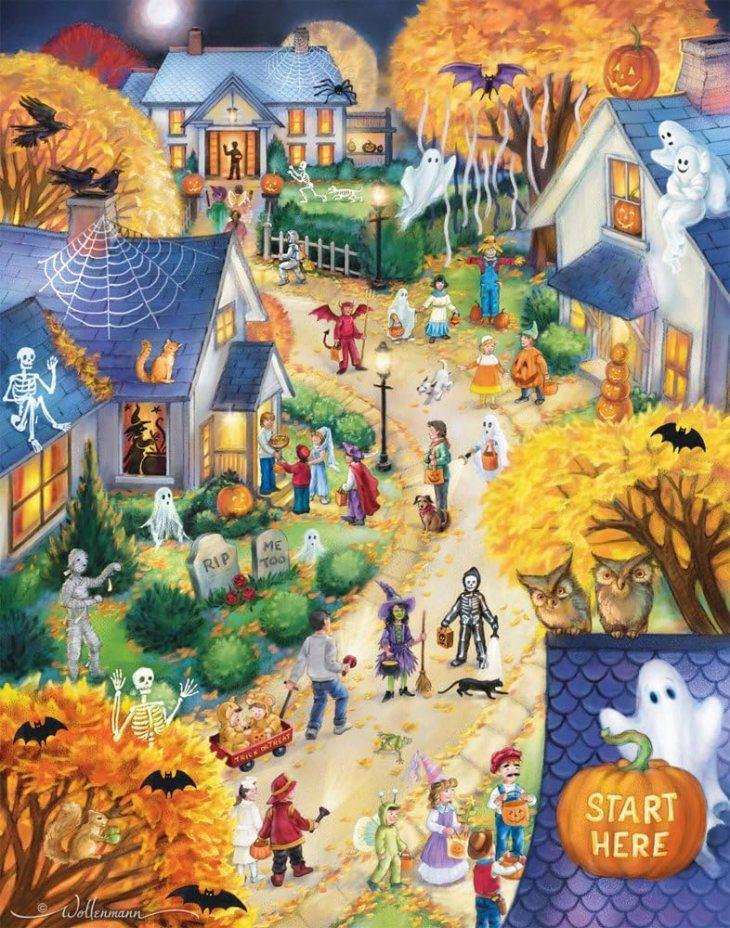 Paper Halloween Countdown Calendar