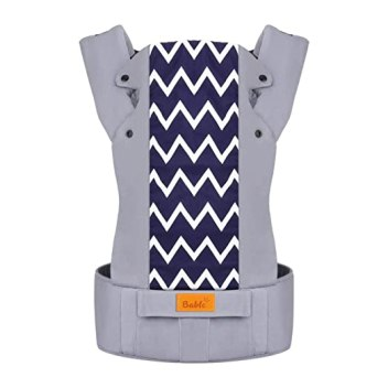 Bable Baby Carrier, Baby Carrier Wrap 3 in 1 Ergonomic Multi-Position for 8-26lbs, Soft Cotton Baby Carriers Front and Back for All Seasons, Wave Stripes, Baby Carrier for dad