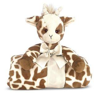 "Bearington Baby Patches Cuddle Me Sleeper, Giraffe Large Size Security Blanket, 28.5"" x 28.5"""