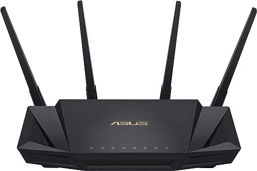 Asus RT-AX58U Routeur WiFi 6 AX3000 Double Bande Gigabit (Ofdma, MU-MIMO, 1024Qam, Client et Serveur VPN, Mode Point accès, Répéteur & Nœud Aimesh)