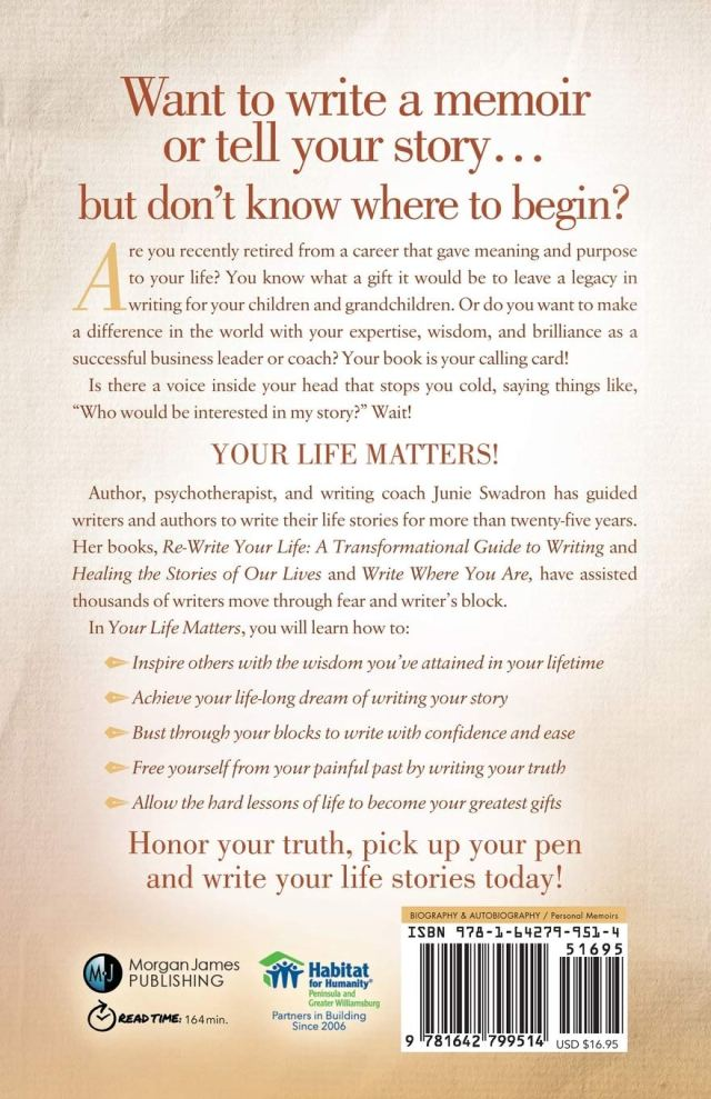 Your Life Matters: 26 Simple Steps to Writing Your Story : Swadron