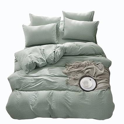 Doldoa Duvet Cover Setwashed Cotton Bedding Down Comforter Cover Set3 Piece