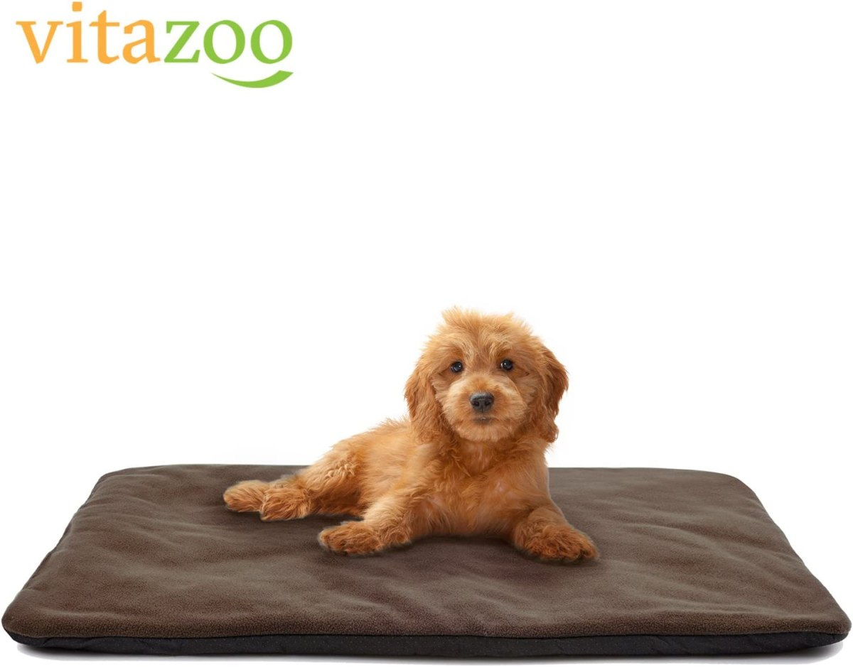 vitazoo Manta térmica para Perro, marrón, Acolchada y Aislante, Lado Inferior Antideslizante e Impermeable, 70 cm x 100 cm - Cama para Perro, Manta para Gato, Asiento para Mascotas