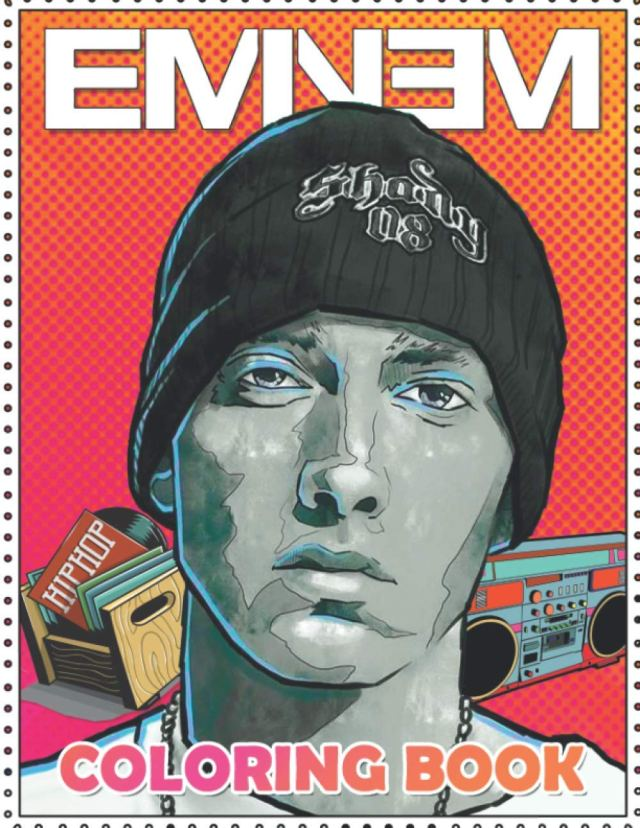 Eminem Coloring Book: Coloring Book for All Fans of Eminem with