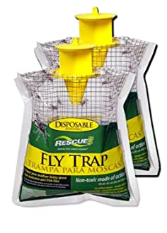 RESCUE! FTD2 Fly Trap 2 Disposable, 2 Pack