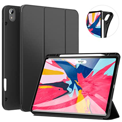 Ztotop Case For Ipad Pro 129 Inch 2018 Full Body Protective Rugged Shockproof Case With Pencil Holder Auto Sleepwake Support Ipad Pencil Charging
