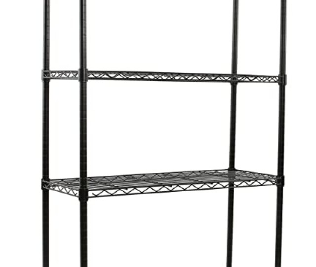 Amazon Com Finnhomy Heavy Duty 4 Tier Wire Shelving Unit Thicken Pole Adjustable 4 Shelf Steel Wire Shelving Rack Storage Rack 36 L X 14 W X 54 H