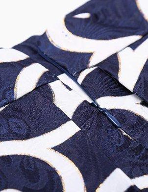 Pleated Midi Skirt | printed zipper