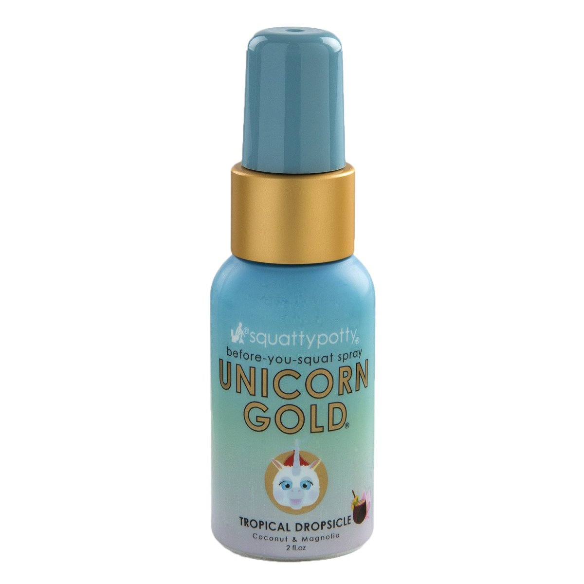 Squatty Potty Unicorn Gold Toilet Spray, Tropical Dropsicle, 2 Ounce