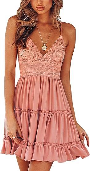 salmon short boho dress, beautiful summer dresses 2021