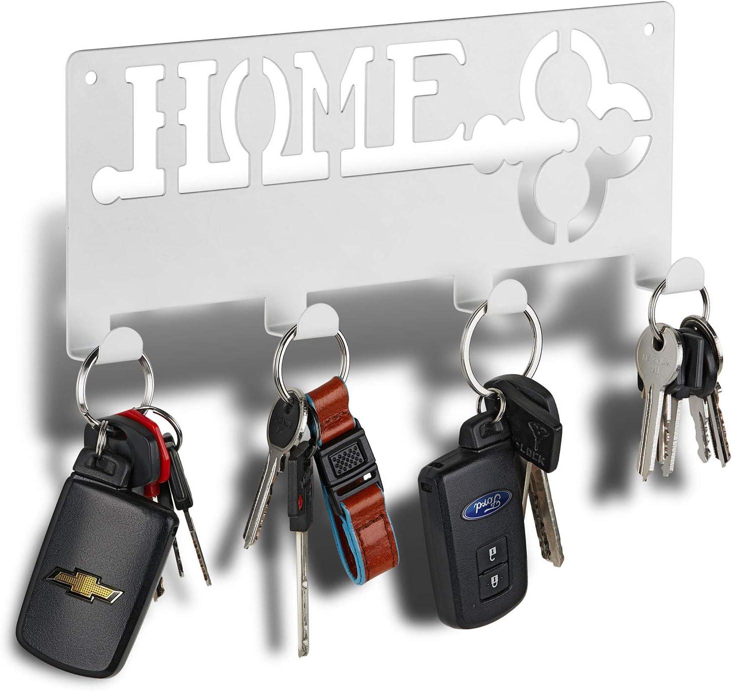 Amazon Com Decorative Key Rack Modern Key Rack 4 Hooks Keyring Holder Hanging Coat Key Holder With Hooks Wall Key Rack Forgetting Is Normal Stop Losing Your Keys