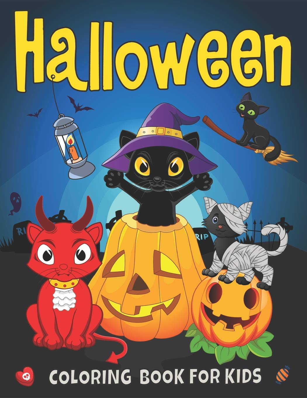 Halloween Coloring Book For Kids Cute Cats Costumes Ghosts Pumpkins And Witches Happy Halloween Coloring Pages For Preschoolers Toddlers Amy Sunday 9781723767531 Books Amazon Ca