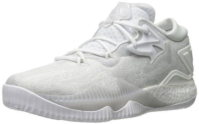 adidas Performance Men's Crazylight Boost Low 2016 Basketball Shoe, White/White/White, 11 M US