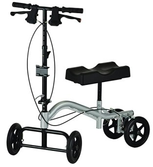 NOVA Medical Products The Knee Walker, Silver, 26.25 Pound
