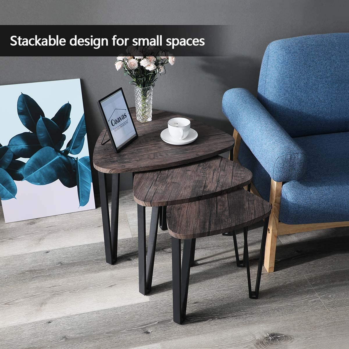 Tables Living Room cheap  Coffee Table Sets of 3 Stacking End Side Tables : design of living room furniture