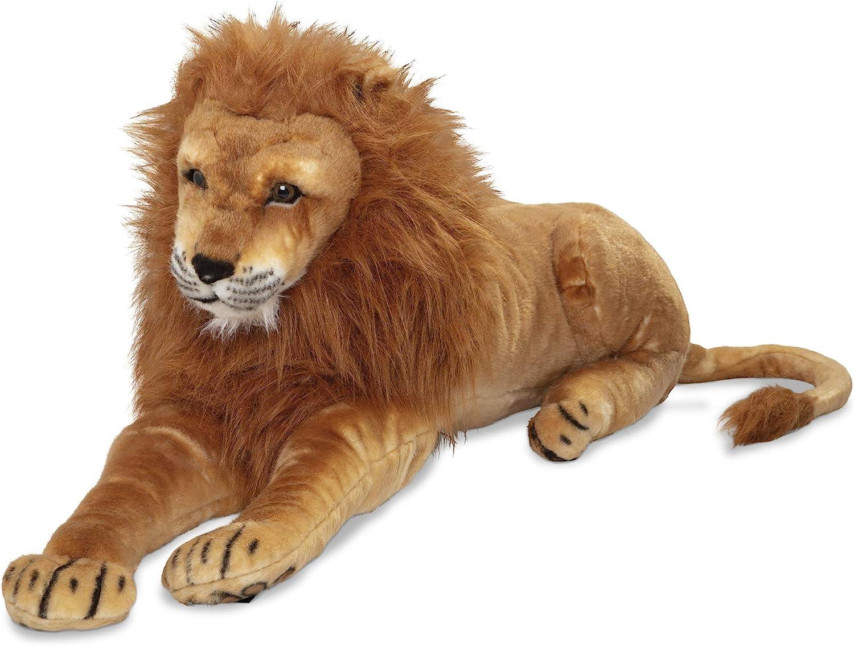 Amazon Com Melissa Doug Large Stuffed Lion Melissa Doug 2102 Toys Games