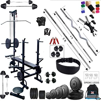 BodyFit Weight Plates 20 In 1 Bench Home Gym