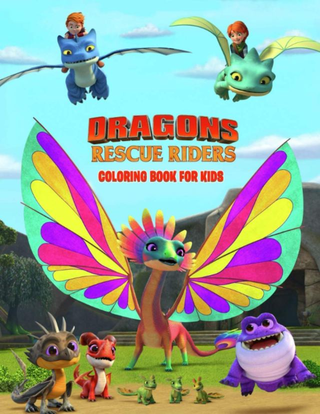 Dragons Rescue Riders Coloring Book For Kids: Perfect Coloring