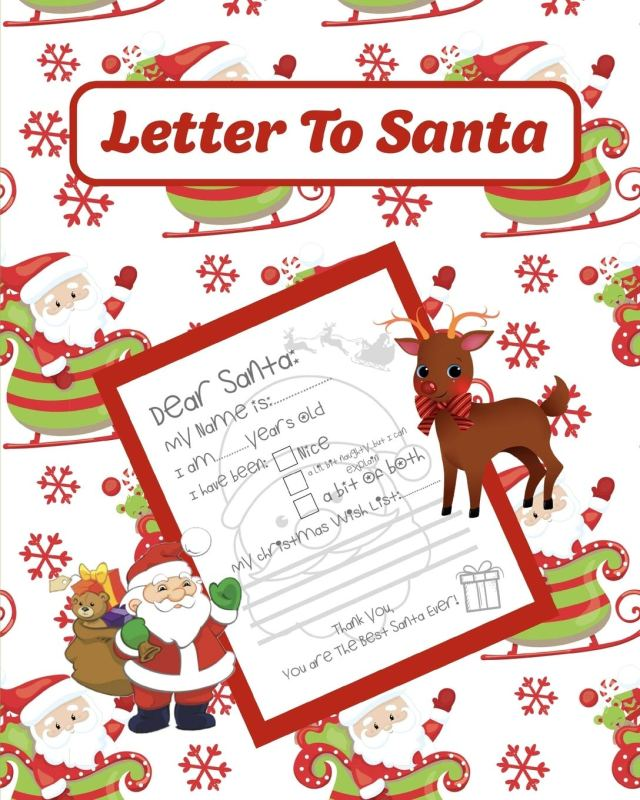 Letter To Santa: A Notebook With Blank Letters To Write To Santa