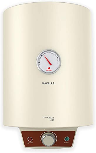 Havells Monza EC 15-Litre Storage Water Heater with Flexi Pipe (Ivory)