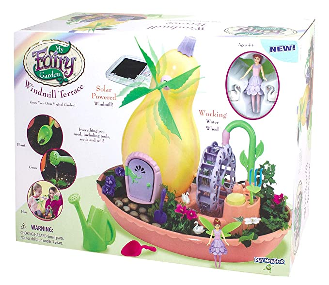My Fairy Garden Windmill Terrace Solar Power Playset - Grow Your Own Magical Garden! Retails for $29.99.