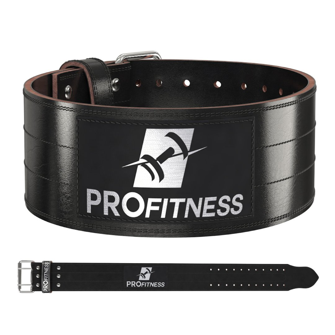 ProFitness Weight Lifting Belt (4 Inch Wide) – Genuine Leather Workout Belt for Men & Women