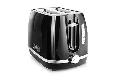 Black + Decker BXTO0202IN 870-Watt 2 Slice Pop-up Toaster with Bun Warmer