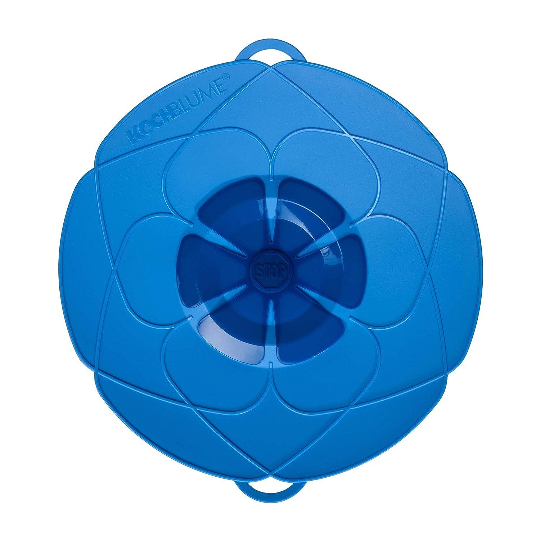 Kochblume vom Erfinder Armin Harecker L 29 cm blau, Küchenhelfer Überkochschutz