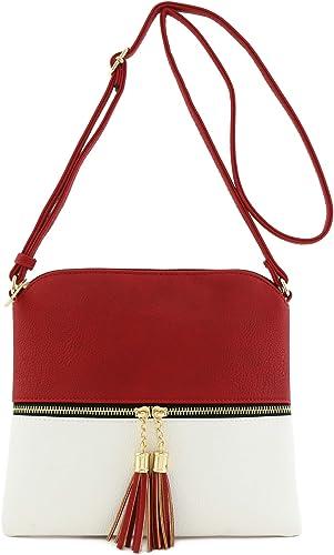 Lightweight Medium Crossbody Bag with Tassel