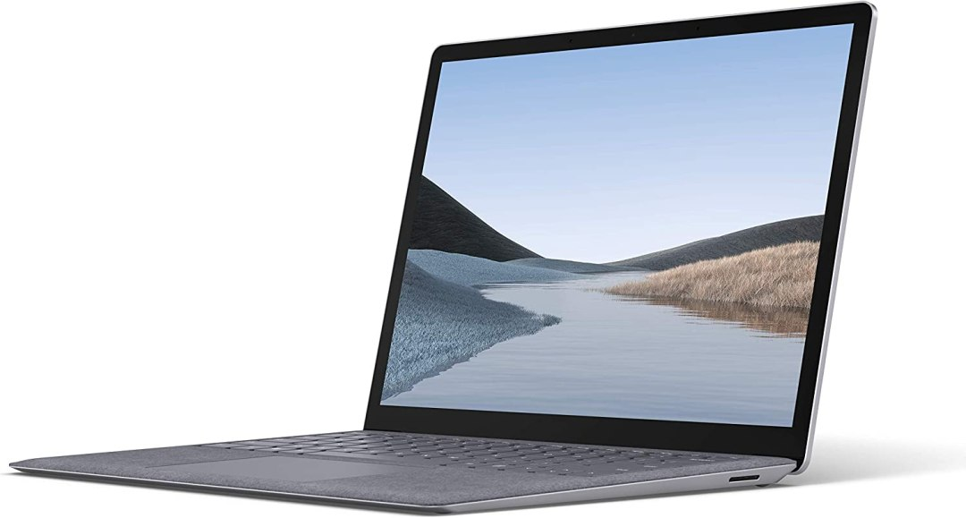 Microsoft Surface Laptop 3 – PC Ultra-Portable (écran 13 pouces, Intel Core i5, 8Go de RAM, 128Go de stockage SSD) – Platine (finition Alcantara)