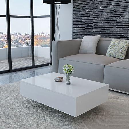Xinglieu Coffee Table High Gloss Living Room Furniture White Amazon Co Uk Kitchen Home