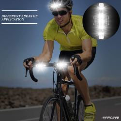 PRO365 DC918 Bicycle Lights Combo Pack Rechargeable Multiple Light Modes and Waterproof Head and Tail Light