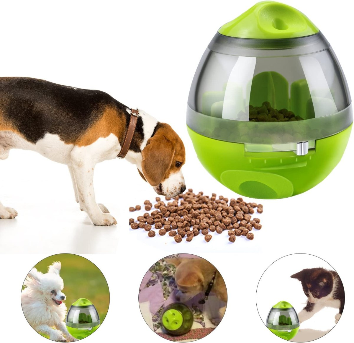 Alimentador de Comida para Perros, Yokunat Bola de Tratamiento IQ Rompecabezas Juguetes Interactivos Educativos Dispensadora de Comida con Ajuste de Dificultad para Mascotas Pequeños y Medianos