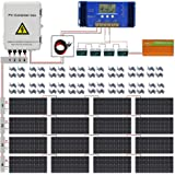 ECO LLC 3000W Off Grid Solar Panel Kit 48V Complete Solar System Include 16pcs 195W Solar Panel and 3500W Inverter and 4 String PV Combiner Box and 60A Controller and 4pcs 100AH Battery