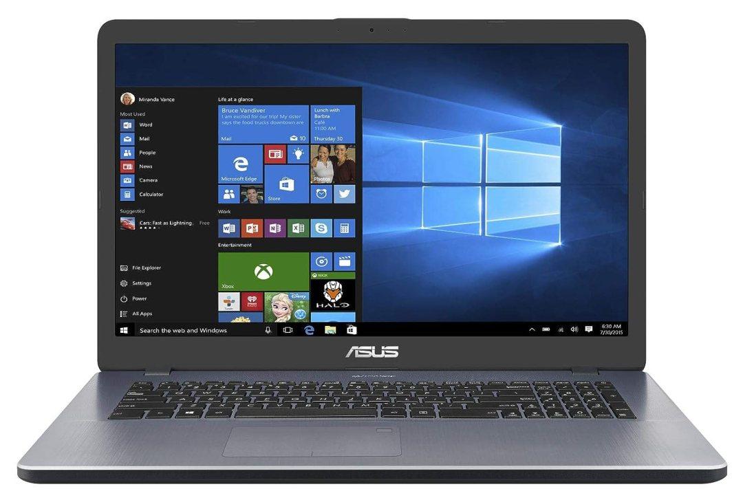 """Asus Vivobook R702UA-BX599T PC portable 17"""" Gris (Intel Core i5, 8 Go de RAM, 1 to + SSD 256 Go, Windows 10) Clavier AZERTY Français"""