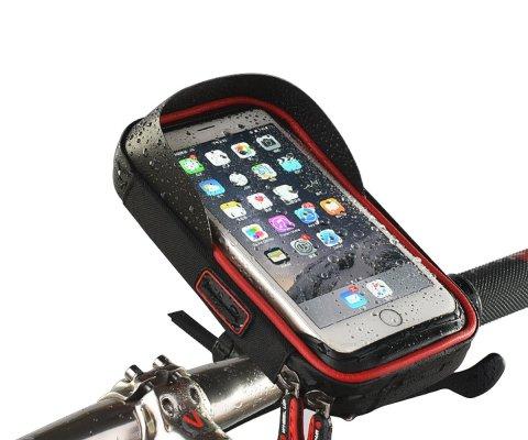 Future Founder 自転車ホルダー バイクスタンド スマホホルダー iPhone など6.0インチ以下の機種対応 360度回転 防水 小物収納付き 雨よけ