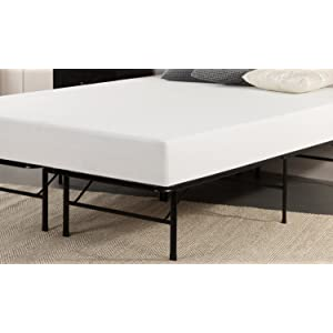 Sleep Master 8-Inch Pressure Relief Memory Foam Mattress and Platform Metal Bed Frame/Mattress Foundation, Full