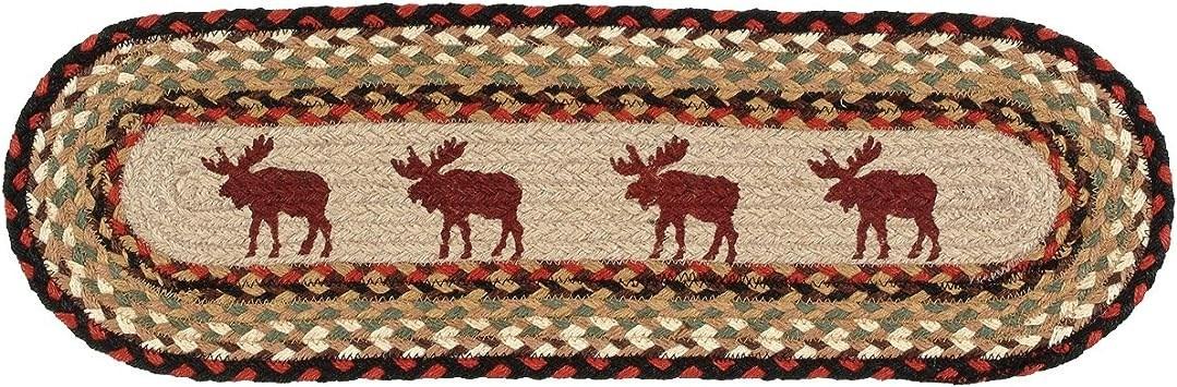 Moose Braided Jute Rustic Stair Tread Lodge Decor Amazon Com | Rustic Carpet Stair Treads | Sisal Carpet | Titanium Heather | Naturalarearugs Rustic | Carpet Runners | Farrel Moroccan