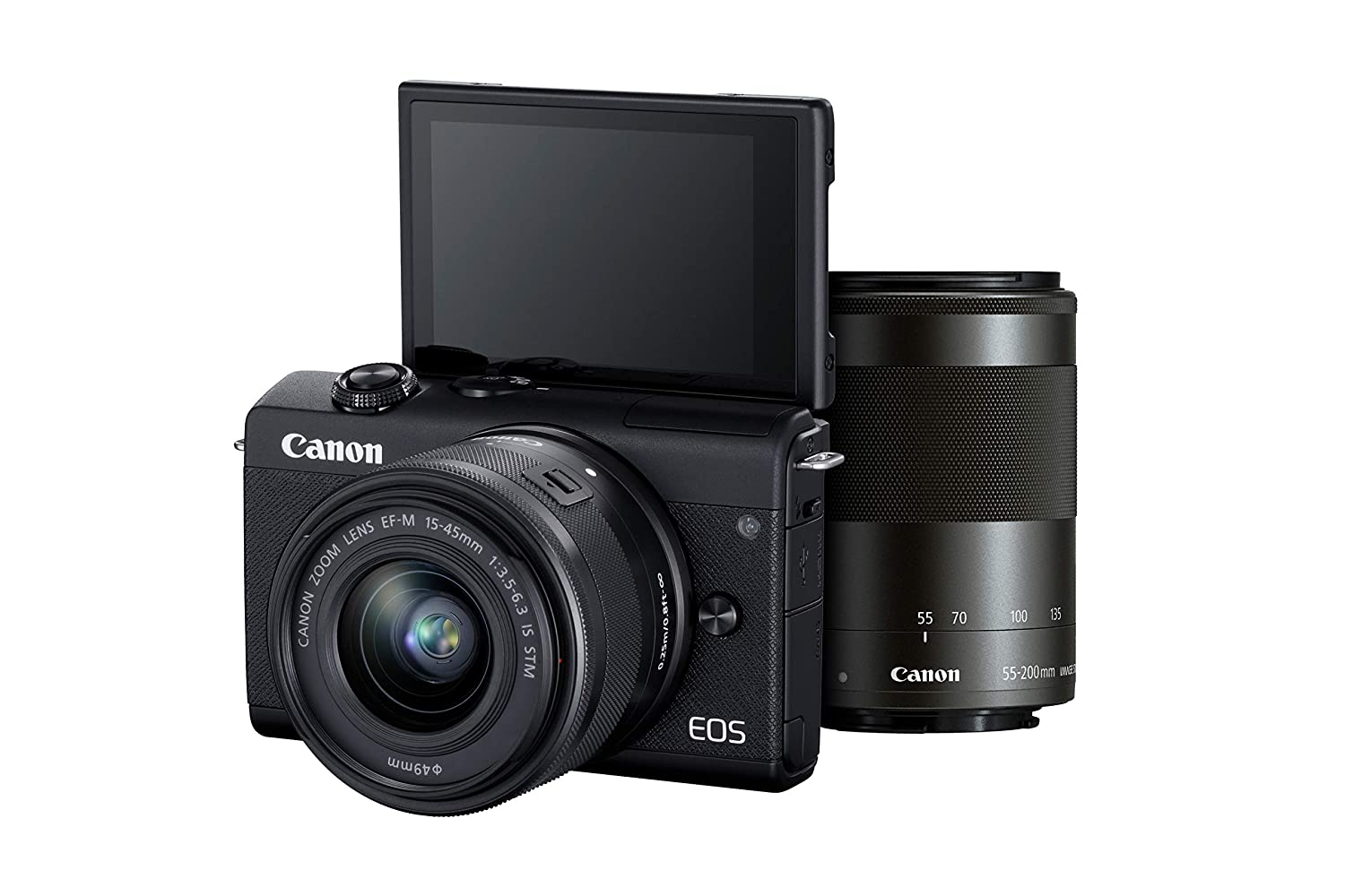 Buy Canon EOS M200 Mirrorless Camera, EF-M15-45mm f/3.5-6.3 is STM ...