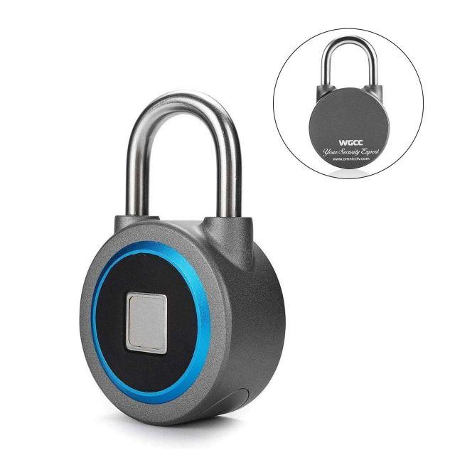 Metal Waterproof Fingerprint Padlock with Bluetooth