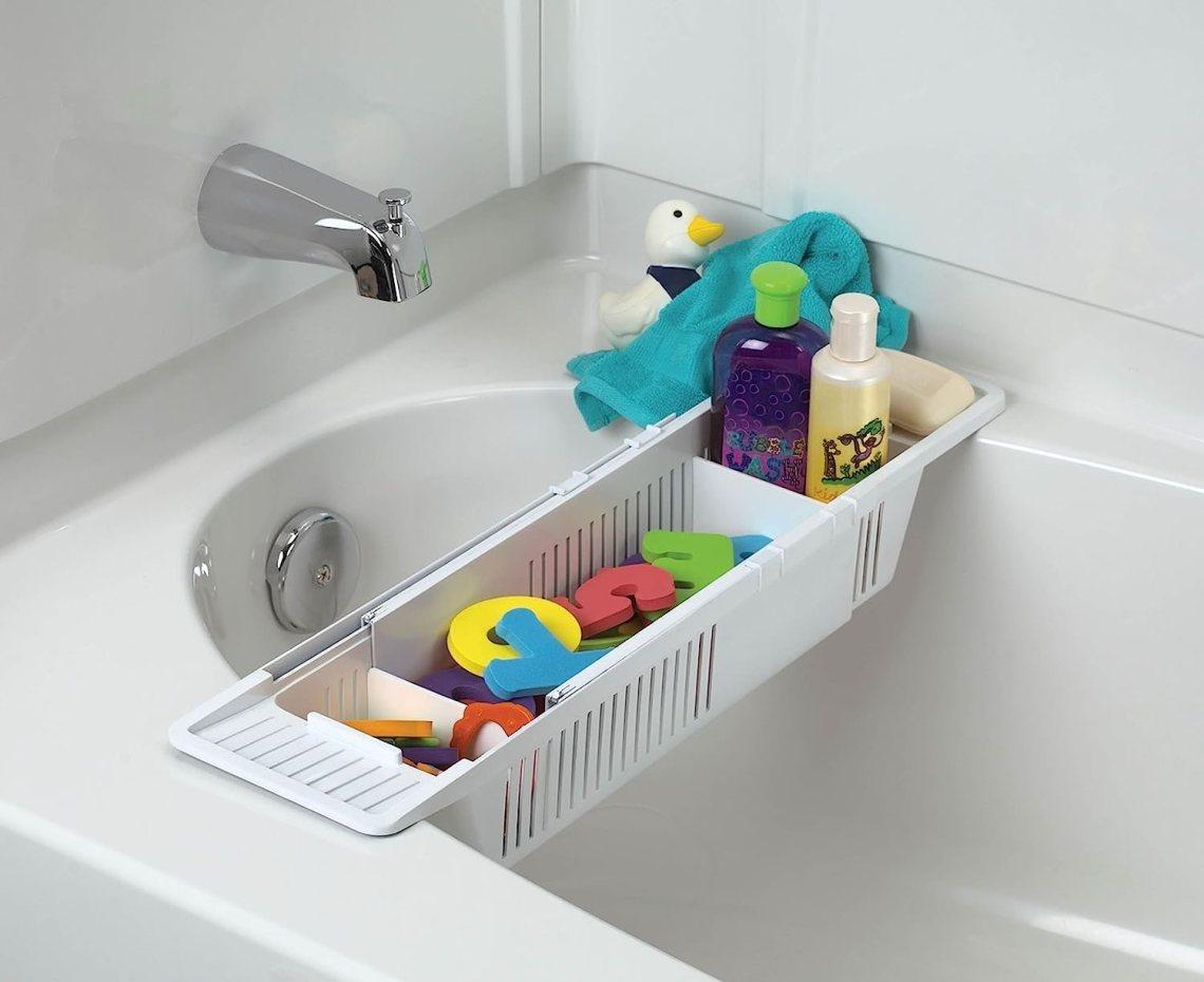 Amazon Com Kidco Bath Toy Organizer Storage Basket White Bathtub Toy Bags Baby