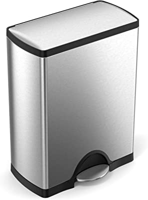 Step-Recycler,-Fingerprint-Proof-Brushed-Stainless-Steel,-46-Liter-/12-Gallon