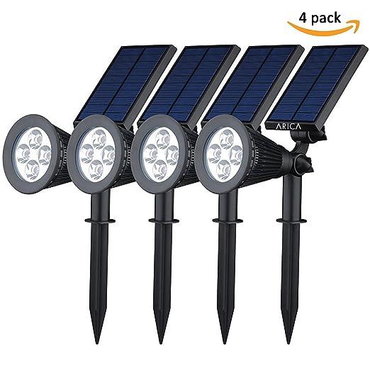 Lampioni Solari Da Esterno Luce Ad Energia Solare Da Giardino Prato Lampade Da Terra Kit Faretti Illuminazione Wireless Crepuscolare
