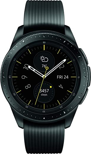 Samsung Galaxy Watch smartwatch (42mm, GPS, Bluetooth) – Midnight Black (US Version with Warranty)