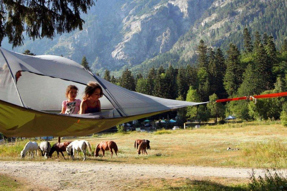 Tentsile Stingray tree tent テントサイル スティングレイ 3人用 宙に浮く新感覚テント (カモフラージュ)