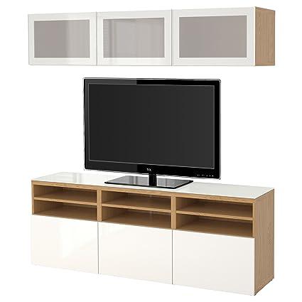 Ikea Besta Tv Combinaison De Rangementportes En Verre