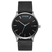 MVMT Silver Black Leather MM01BSL Watch Review