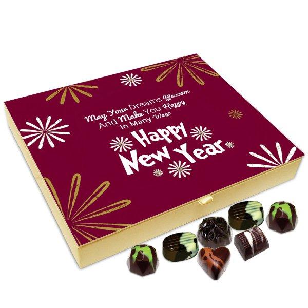Chocholik New Year Chocolate Box – May Your Dreams Blossom On This New Year Chocolate Box – 20pc