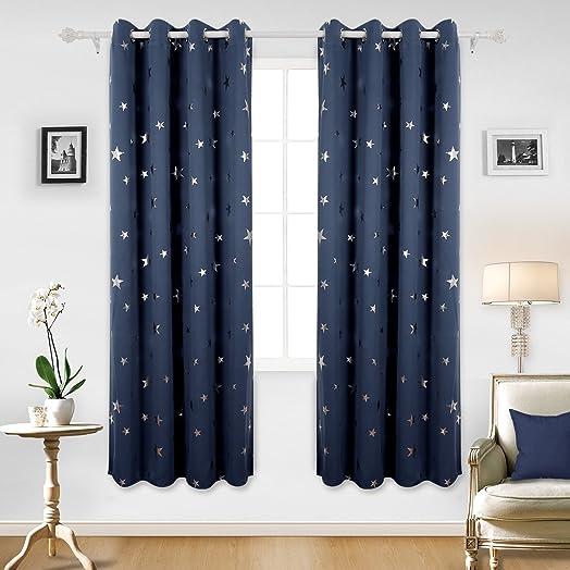 Navy Blue Eyelet Curtains Uk