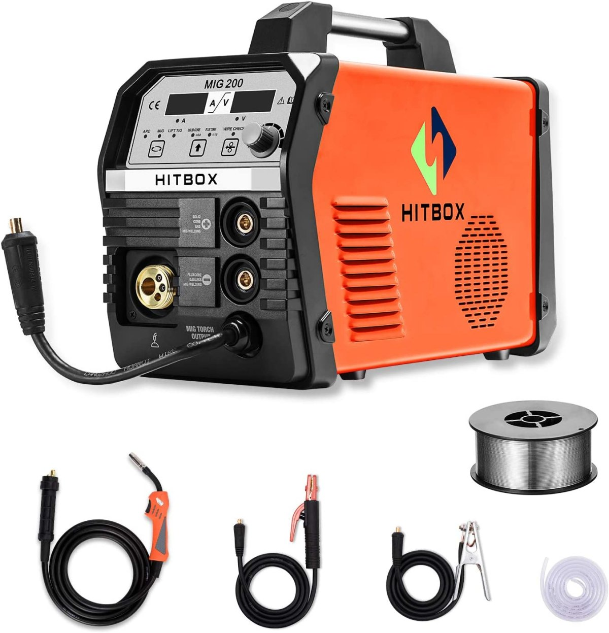 HITBOX MIG Welder 200Amp 4 in 1 Multifunction MIG Welding Machine 220V